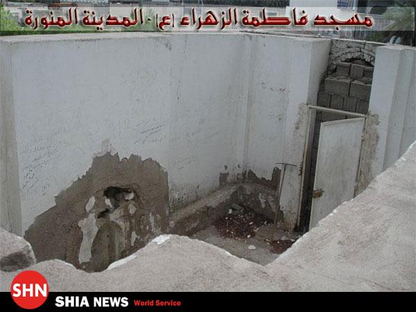 وهابیون با مسجد حضرت فاطمه زهرا (سلام الله علیها)در مدینه چه کردند+عکس