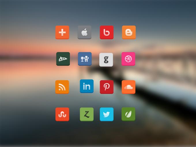 لوگوی فلت شبکه های اجتماعی