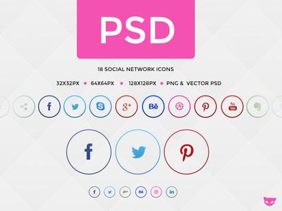 آیکون های زیبای شبکه های اجتماعی و پرطرفدار