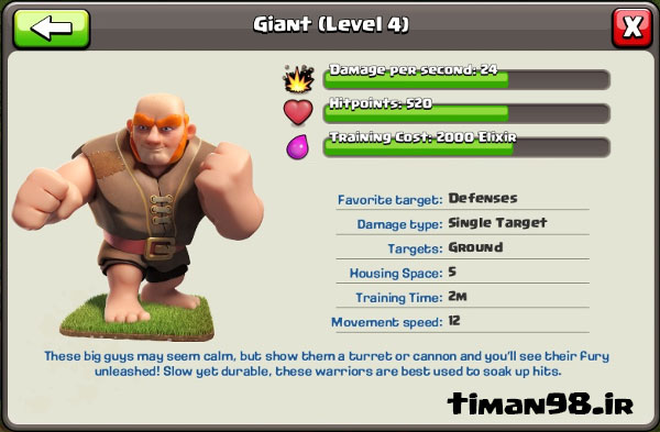 Giant In Clash of Clans