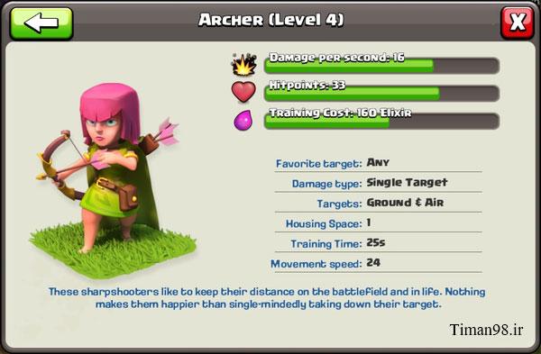 212511 جزئیات ارتقا کمانداران | Archers
