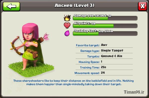 212512 جزئیات ارتقا کمانداران | Archers