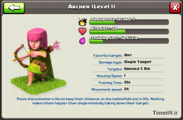212515 جزئیات ارتقا کمانداران | Archers